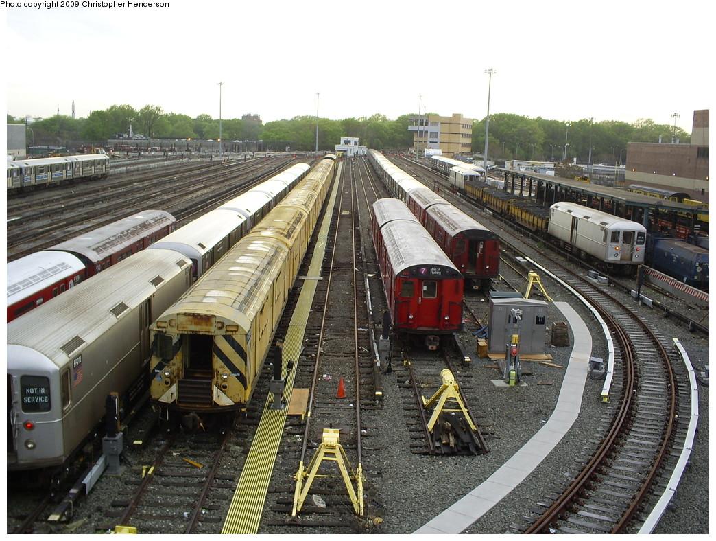 (315k, 1044x788)<br><b>Country:</b> United States<br><b>City:</b> New York<br><b>System:</b> New York City Transit<br><b>Location:</b> Corona Yard<br><b>Car:</b> R-33 World's Fair (St. Louis, 1963-64) 9401 <br><b>Photo by:</b> Christopher Henderson<br><b>Date:</b> 4/29/2009<br><b>Viewed (this week/total):</b> 1 / 1797