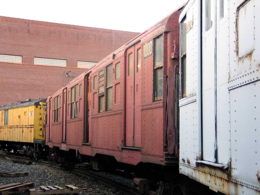 (83k, 853x640)<br><b>Country:</b> United States<br><b>City:</b> New York<br><b>System:</b> New York City Transit<br><b>Location:</b> Coney Island Yard-Museum Yard<br><b>Car:</b> R-6-3 (American Car & Foundry, 1935)  1000 <br><b>Photo by:</b> Michael Pompili<br><b>Date:</b> 6/29/2004<br><b>Viewed (this week/total):</b> 2 / 989