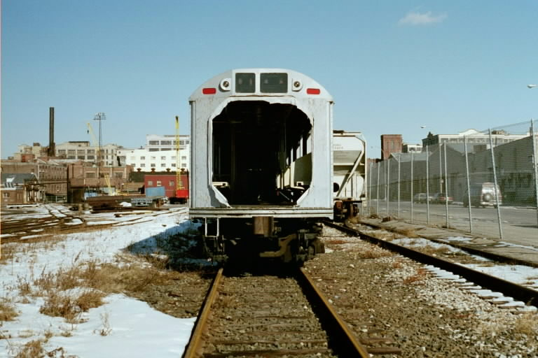 (80k, 768x512)<br><b>Country:</b> United States<br><b>City:</b> New York<br><b>System:</b> New York City Transit<br><b>Line:</b> South Brooklyn Railway<br><b>Location:</b> SBK Yard (2nd Ave at 38th St.) (SBK)<br><b>Car:</b> R-142 or R-142A (Number Unknown) Mockup 1 <br><b>Photo by:</b> Michael Pompili<br><b>Date:</b> 1/28/2001<br><b>Viewed (this week/total):</b> 0 / 3230