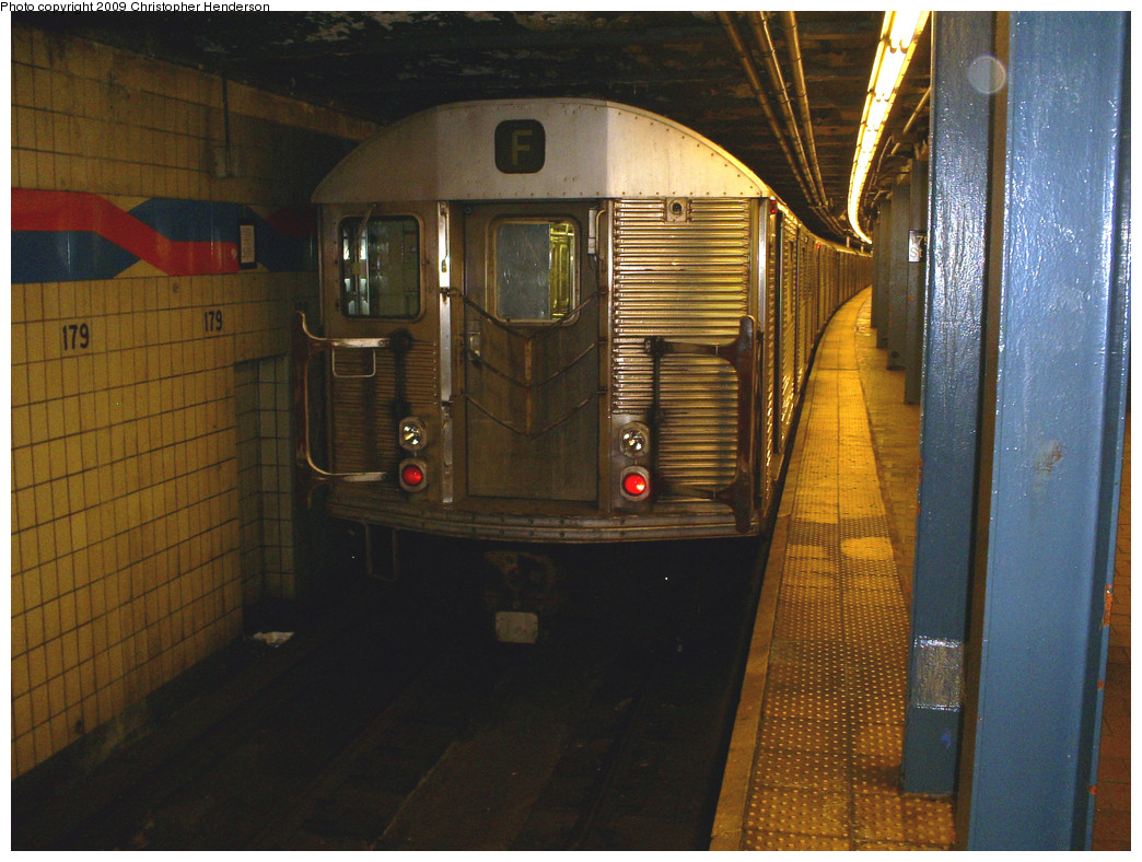 (299k, 1044x788)<br><b>Country:</b> United States<br><b>City:</b> New York<br><b>System:</b> New York City Transit<br><b>Line:</b> IND Queens Boulevard Line<br><b>Location:</b> 179th Street <br><b>Route:</b> F<br><b>Car:</b> R-32 (Budd, 1964)  3796 <br><b>Photo by:</b> Christopher Henderson<br><b>Date:</b> 5/13/2009<br><b>Viewed (this week/total):</b> 1 / 1715