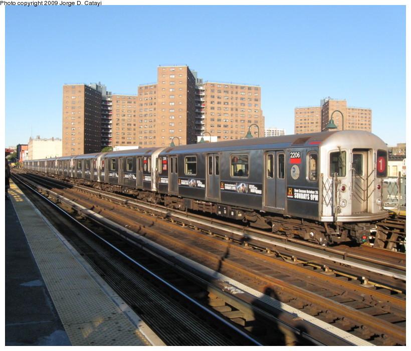 (167k, 820x700)<br><b>Country:</b> United States<br><b>City:</b> New York<br><b>System:</b> New York City Transit<br><b>Line:</b> IRT West Side Line<br><b>Location:</b> 125th Street <br><b>Route:</b> 1<br><b>Car:</b> R-62A (Bombardier, 1984-1987)  2206 <br><b>Photo by:</b> Jorge Catayi<br><b>Date:</b> 10/19/2008<br><b>Viewed (this week/total):</b> 0 / 1398