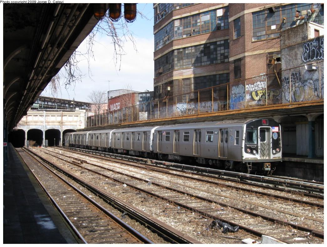 (311k, 1044x788)<br><b>Country:</b> United States<br><b>City:</b> New York<br><b>System:</b> New York City Transit<br><b>Line:</b> BMT Sea Beach Line<br><b>Location:</b> New Utrecht Avenue <br><b>Route:</b> N<br><b>Car:</b> R-160B (Option 1) (Kawasaki, 2008-2009)  8987 <br><b>Photo by:</b> Jorge Catayi<br><b>Date:</b> 3/10/2009<br><b>Viewed (this week/total):</b> 1 / 1451