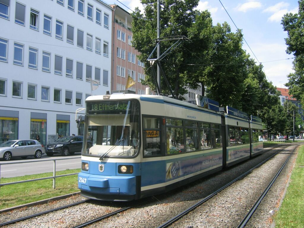 (189k, 1024x768)<br><b>Country:</b> Germany<br><b>City:</b> Munich<br><b>System:</b> MVG (Munchener Verkehrsgesellschaft)<br><b>Location:</b> Sonnenstrasse <br><b>Route:</b> 18<br><b>Car:</b> Siemens GT6N R2.2  2147  <br><b>Photo by:</b> Jos Straathof<br><b>Date:</b> 8/14/2008<br><b>Viewed (this week/total):</b> 0 / 383