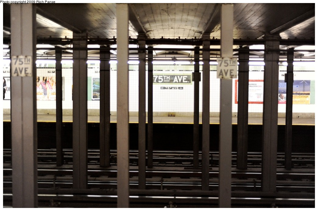 (162k, 1044x694)<br><b>Country:</b> United States<br><b>City:</b> New York<br><b>System:</b> New York City Transit<br><b>Line:</b> IND Queens Boulevard Line<br><b>Location:</b> 75th Avenue <br><b>Photo by:</b> Richard Panse<br><b>Date:</b> 3/30/2009<br><b>Viewed (this week/total):</b> 2 / 1484