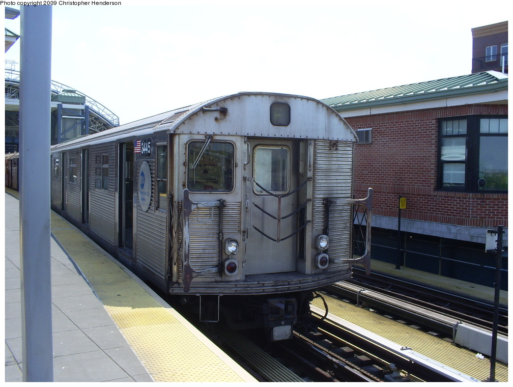 (257k, 1044x788)<br><b>Country:</b> United States<br><b>City:</b> New York<br><b>System:</b> New York City Transit<br><b>Location:</b> Coney Island/Stillwell Avenue<br><b>Route:</b> F<br><b>Car:</b> R-32 (Budd, 1964)  3445 <br><b>Photo by:</b> Christopher Henderson<br><b>Date:</b> 5/22/2009<br><b>Viewed (this week/total):</b> 0 / 1078