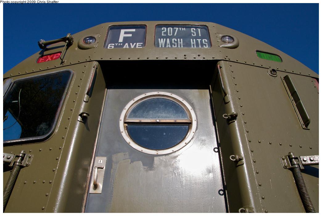 (213k, 1044x700)<br><b>Country:</b> United States<br><b>City:</b> Kingston, NY<br><b>System:</b> Trolley Museum of New York <br><b>Car:</b> R-16 (American Car & Foundry, 1955) 6398 <br><b>Photo by:</b> Chris C. Shaffer<br><b>Date:</b> 10/9/2008<br><b>Viewed (this week/total):</b> 2 / 1611