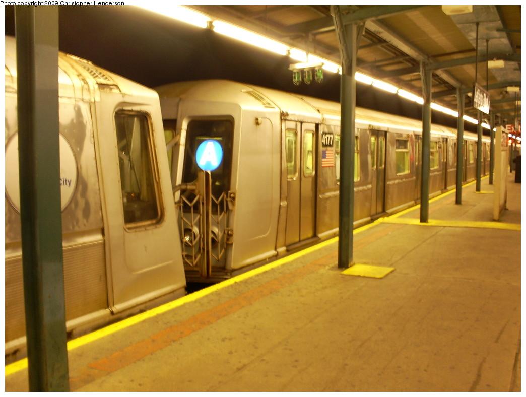 (228k, 1044x788)<br><b>Country:</b> United States<br><b>City:</b> New York<br><b>System:</b> New York City Transit<br><b>Line:</b> IND Fulton Street Line<br><b>Location:</b> Lefferts Boulevard <br><b>Route:</b> A<br><b>Car:</b> R-40 (St. Louis, 1968)  4177 <br><b>Photo by:</b> Christopher Henderson<br><b>Date:</b> 5/31/2009<br><b>Viewed (this week/total):</b> 0 / 1135