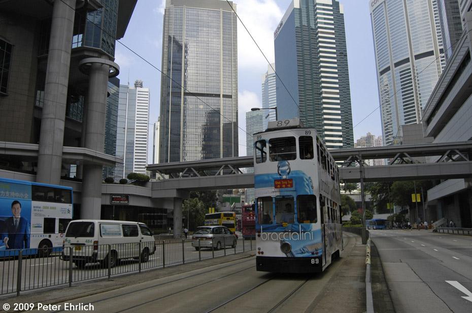 (216k, 930x618)<br><b>Country:</b> China (Hong Kong)<br><b>City:</b> Hong Kong<br><b>System:</b> Hong Kong Tramway Ltd.<br><b>Location:</b> Queensway/Cotton Tree <br><b>Car:</b>  89 <br><b>Photo by:</b> Peter Ehrlich<br><b>Date:</b> 5/15/2009<br><b>Viewed (this week/total):</b> 0 / 428