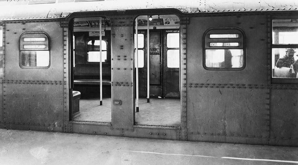 (203k, 1024x569)<br><b>Country:</b> United States<br><b>City:</b> New York<br><b>System:</b> New York City Transit<br><b>Location:</b> Coney Island/Stillwell Avenue<br><b>Car:</b> BMT A/B-Type Standard  <br><b>Collection of:</b> Brian J. Cudahy<br><b>Notes:</b> Center doors of an early model Standard.<br><b>Viewed (this week/total):</b> 0 / 2533