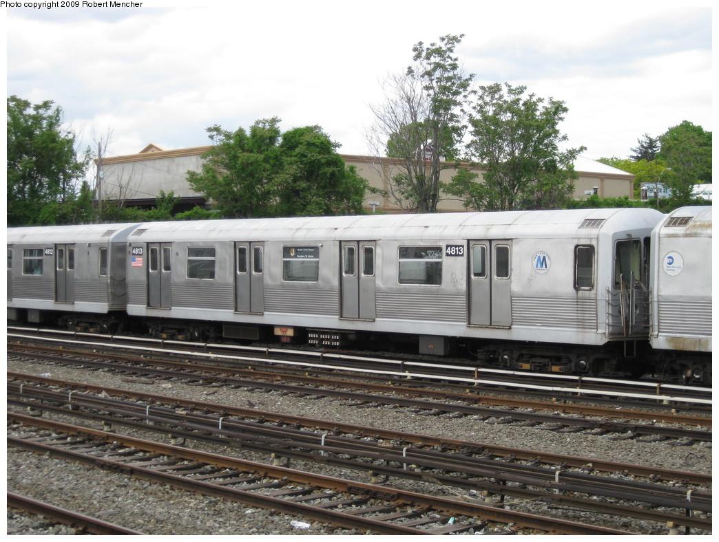 (259k, 1044x788)<br><b>Country:</b> United States<br><b>City:</b> New York<br><b>System:</b> New York City Transit<br><b>Location:</b> East New York Yard/Shops<br><b>Car:</b> R-42 (St. Louis, 1969-1970)  4813 <br><b>Photo by:</b> Robert Mencher<br><b>Date:</b> 5/18/2009<br><b>Viewed (this week/total):</b> 0 / 698