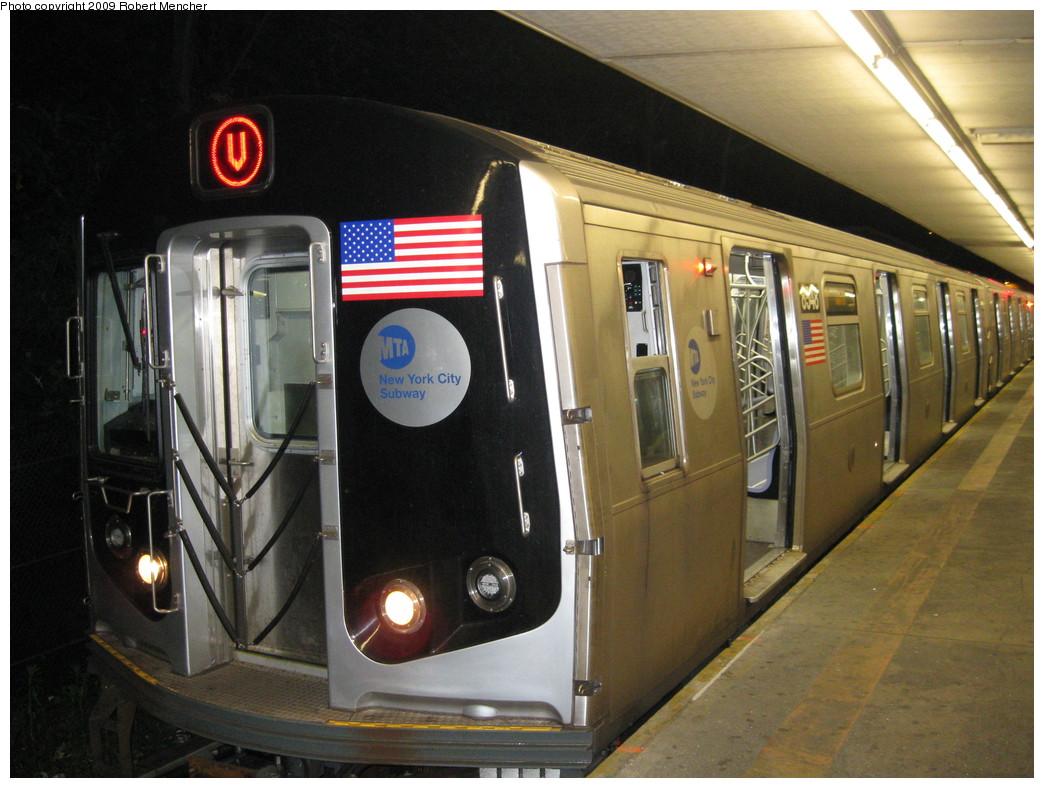 (222k, 1044x788)<br><b>Country:</b> United States<br><b>City:</b> New York<br><b>System:</b> New York City Transit<br><b>Line:</b> BMT Myrtle Avenue Line<br><b>Location:</b> Metropolitan Avenue <br><b>Route:</b> M-wrong sign<br><b>Car:</b> R-160A-1 (Alstom, 2005-2008, 4 car sets)  8548 <br><b>Photo by:</b> Robert Mencher<br><b>Date:</b> 5/25/2009<br><b>Viewed (this week/total):</b> 0 / 2323