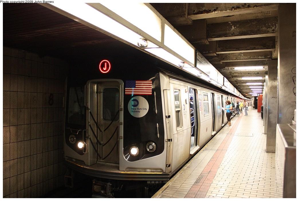 (211k, 1044x703)<br><b>Country:</b> United States<br><b>City:</b> New York<br><b>System:</b> New York City Transit<br><b>Line:</b> BMT Nassau Street/Jamaica Line<br><b>Location:</b> Sutphin Blvd.-Archer Ave./JFK <br><b>Route:</b> J<br><b>Car:</b> R-160A-1 (Alstom, 2005-2008, 4 car sets)  8652 <br><b>Photo by:</b> John Barnes<br><b>Date:</b> 6/15/2009<br><b>Viewed (this week/total):</b> 3 / 1680