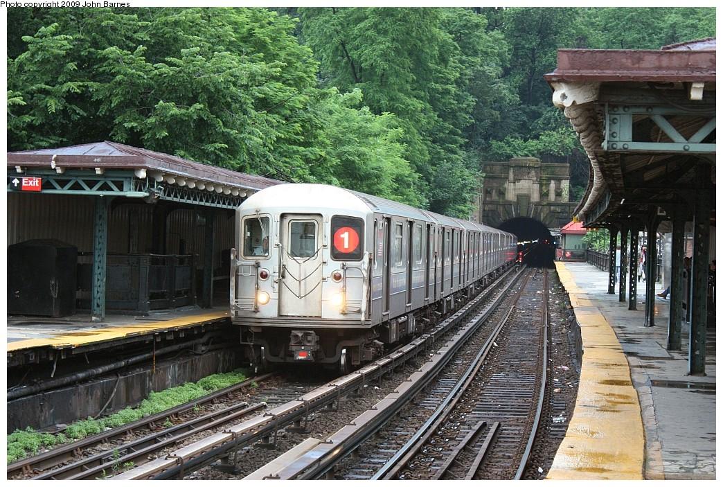 (312k, 1044x703)<br><b>Country:</b> United States<br><b>City:</b> New York<br><b>System:</b> New York City Transit<br><b>Line:</b> IRT West Side Line<br><b>Location:</b> Dyckman Street <br><b>Route:</b> 1<br><b>Car:</b> R-62A (Bombardier, 1984-1987)  2420 <br><b>Photo by:</b> John Barnes<br><b>Date:</b> 6/15/2009<br><b>Viewed (this week/total):</b> 2 / 1716