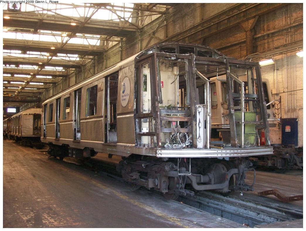 (254k, 1044x788)<br><b>Country:</b> United States<br><b>City:</b> New York<br><b>System:</b> New York City Transit<br><b>Location:</b> 207th Street Shop<br><b>Car:</b> R-40 (St. Louis, 1968)  4425 <br><b>Photo by:</b> Glenn L. Rowe<br><b>Date:</b> 6/30/2009<br><b>Notes:</b> Scrap<br><b>Viewed (this week/total):</b> 1 / 1706
