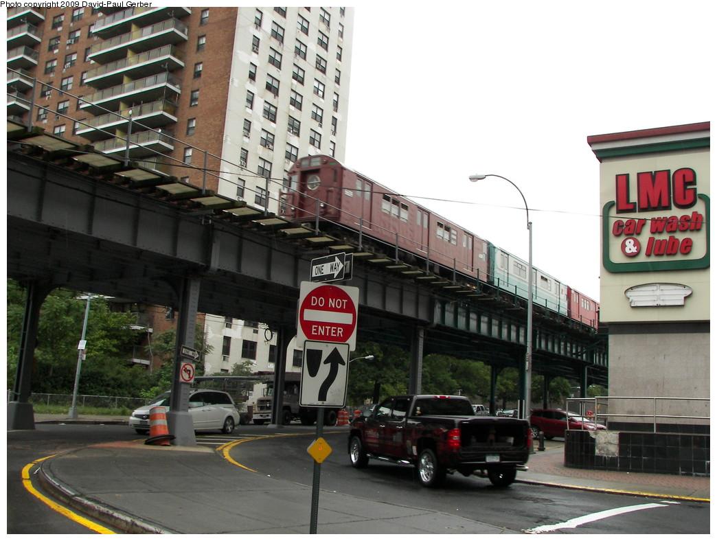 (269k, 1044x788)<br><b>Country:</b> United States<br><b>City:</b> New York<br><b>System:</b> New York City Transit<br><b>Line:</b> IRT White Plains Road Line<br><b>Location:</b> Pelham Parkway <br><b>Route:</b> Fan Trip<br><b>Car:</b> R-17 (St. Louis, 1955-56) 6609 <br><b>Photo by:</b> David-Paul Gerber<br><b>Date:</b> 6/20/2009<br><b>Viewed (this week/total):</b> 2 / 1863