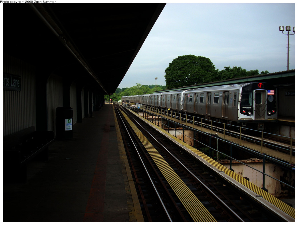 (215k, 1044x788)<br><b>Country:</b> United States<br><b>City:</b> New York<br><b>System:</b> New York City Transit<br><b>Line:</b> BMT Nassau Street/Jamaica Line<br><b>Location:</b> 75th Street/Elderts Lane <br><b>Route:</b> J<br><b>Car:</b> R-160A-1 (Alstom, 2005-2008, 4 car sets)  8329 <br><b>Photo by:</b> Zach Summer<br><b>Date:</b> 6/6/2009<br><b>Viewed (this week/total):</b> 1 / 1381