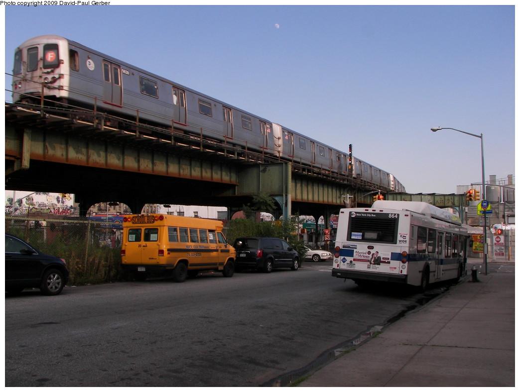 (237k, 1044x788)<br><b>Country:</b> United States<br><b>City:</b> New York<br><b>System:</b> New York City Transit<br><b>Line:</b> BMT Culver Line<br><b>Location:</b> Ditmas Avenue <br><b>Route:</b> F<br><b>Car:</b> R-46 (Pullman-Standard, 1974-75) 5628 <br><b>Photo by:</b> David-Paul Gerber<br><b>Date:</b> 7/1/2009<br><b>Viewed (this week/total):</b> 1 / 1529