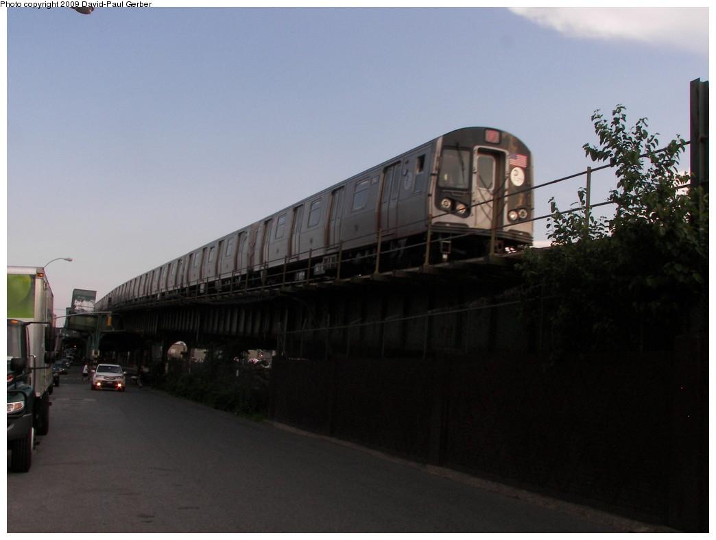(196k, 1044x788)<br><b>Country:</b> United States<br><b>City:</b> New York<br><b>System:</b> New York City Transit<br><b>Line:</b> BMT Culver Line<br><b>Location:</b> Ditmas Avenue <br><b>Route:</b> F<br><b>Car:</b> R-160B (Option 1) (Kawasaki, 2008-2009)  91xx <br><b>Photo by:</b> David-Paul Gerber<br><b>Date:</b> 7/1/2009<br><b>Viewed (this week/total):</b> 0 / 1983