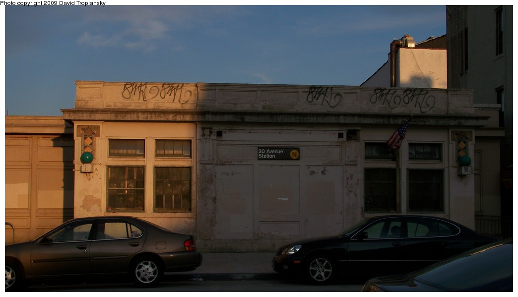 (126k, 1044x599)<br><b>Country:</b> United States<br><b>City:</b> New York<br><b>System:</b> New York City Transit<br><b>Line:</b> BMT Sea Beach Line<br><b>Location:</b> 20th Avenue <br><b>Photo by:</b> David Tropiansky<br><b>Date:</b> 7/3/2009<br><b>Notes:</b> 20th Avenue Station House<br><b>Viewed (this week/total):</b> 0 / 1056