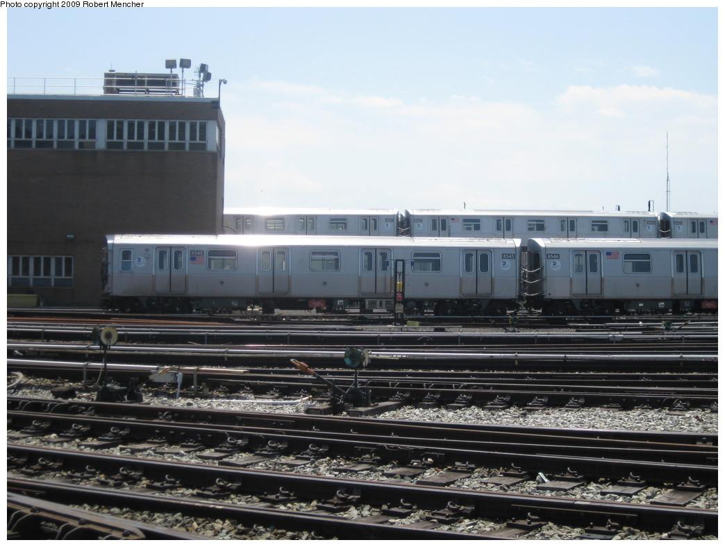 (202k, 1044x788)<br><b>Country:</b> United States<br><b>City:</b> New York<br><b>System:</b> New York City Transit<br><b>Location:</b> East New York Yard/Shops<br><b>Car:</b> R-160A-1 (Alstom, 2005-2008, 4 car sets)  8545 <br><b>Photo by:</b> Robert Mencher<br><b>Date:</b> 6/15/2009<br><b>Viewed (this week/total):</b> 0 / 870