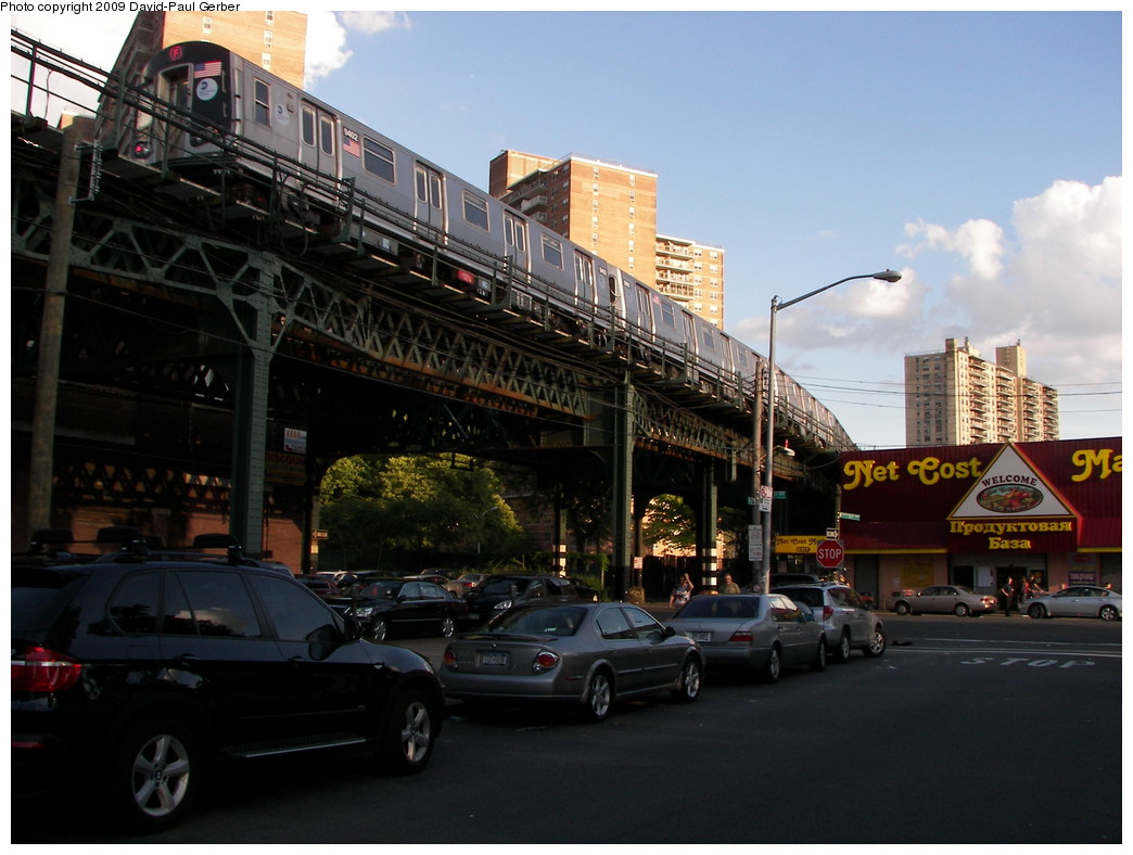 (253k, 1044x788)<br><b>Country:</b> United States<br><b>City:</b> New York<br><b>System:</b> New York City Transit<br><b>Line:</b> BMT Culver Line<br><b>Location:</b> Neptune Avenue <br><b>Route:</b> F<br><b>Car:</b> R-160A (Option 1) (Alstom, 2008-2009, 5 car sets)  9402 <br><b>Photo by:</b> David-Paul Gerber<br><b>Date:</b> 7/8/2009<br><b>Viewed (this week/total):</b> 0 / 1692