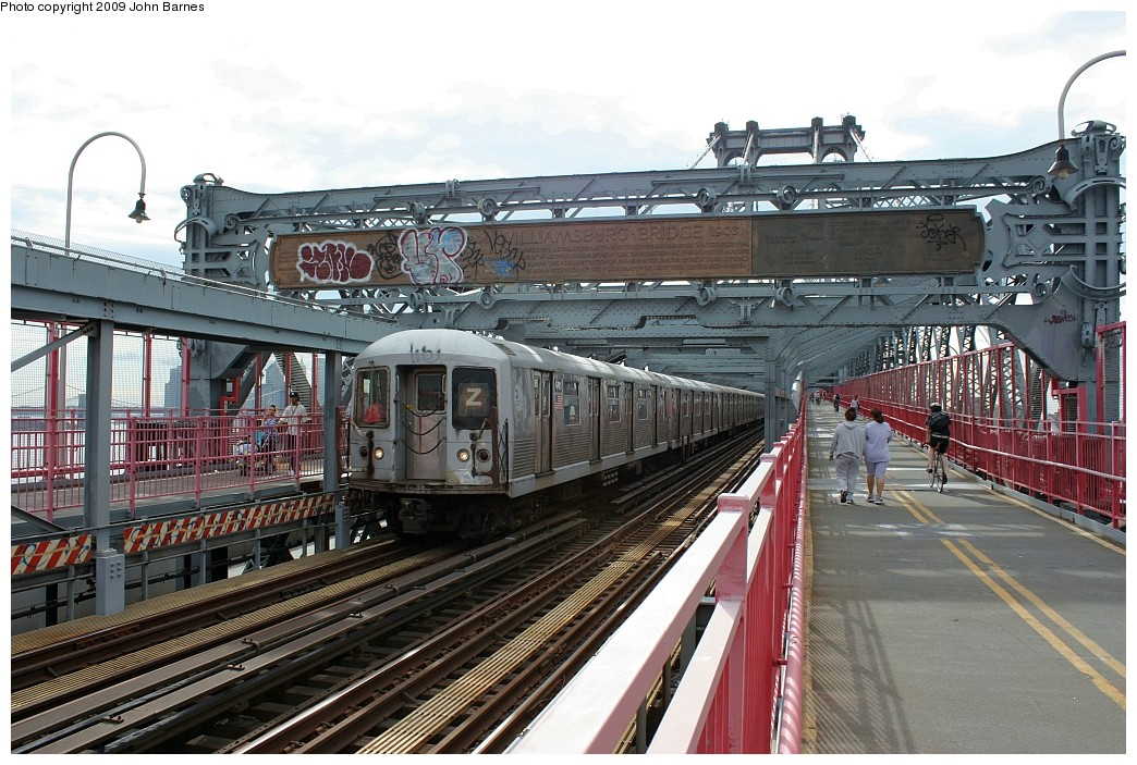 (244k, 1044x703)<br><b>Country:</b> United States<br><b>City:</b> New York<br><b>System:</b> New York City Transit<br><b>Line:</b> BMT Nassau Street/Jamaica Line<br><b>Location:</b> Williamsburg Bridge<br><b>Route:</b> Z<br><b>Car:</b> R-42 (St. Louis, 1969-1970)  4791 <br><b>Photo by:</b> John Barnes<br><b>Date:</b> 6/22/2009<br><b>Viewed (this week/total):</b> 3 / 1117