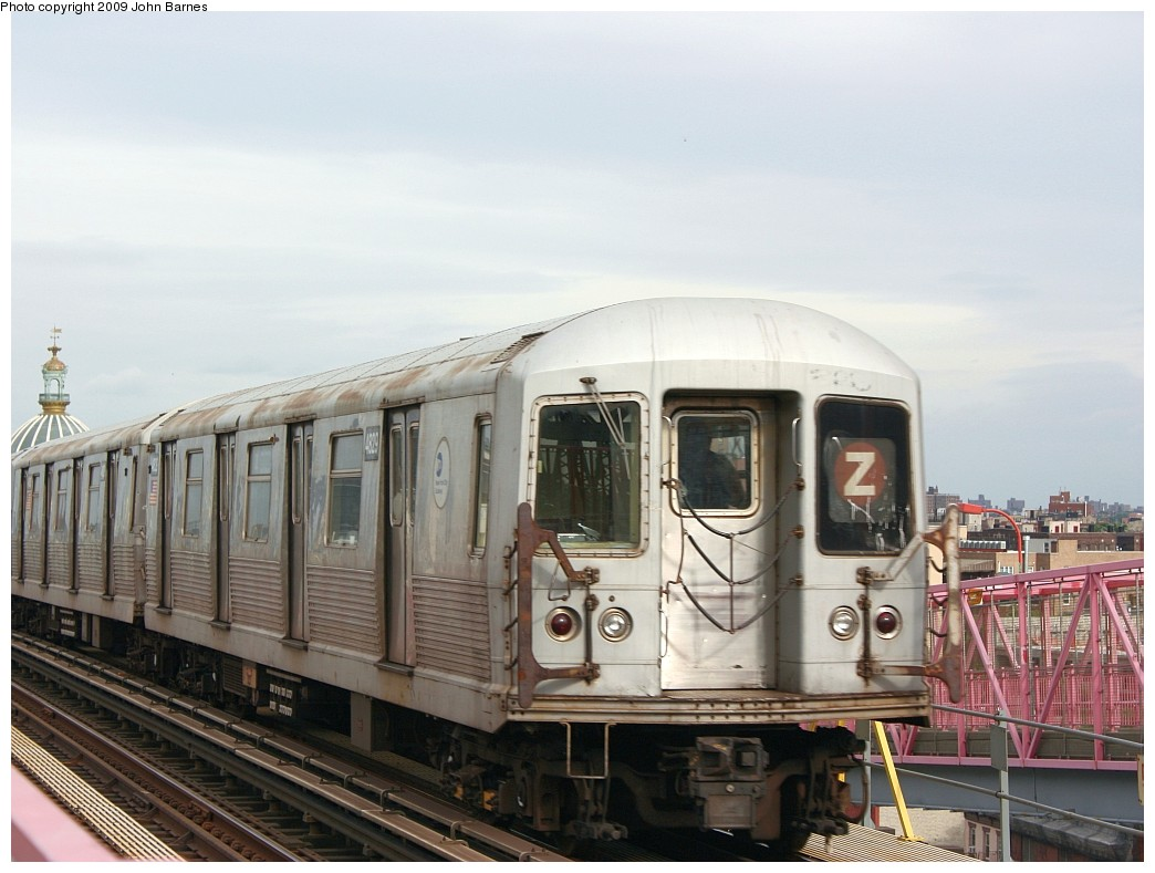(183k, 1044x789)<br><b>Country:</b> United States<br><b>City:</b> New York<br><b>System:</b> New York City Transit<br><b>Line:</b> BMT Nassau Street/Jamaica Line<br><b>Location:</b> Williamsburg Bridge<br><b>Route:</b> Z<br><b>Car:</b> R-42 (St. Louis, 1969-1970)  4829 <br><b>Photo by:</b> John Barnes<br><b>Date:</b> 6/22/2009<br><b>Viewed (this week/total):</b> 6 / 1146