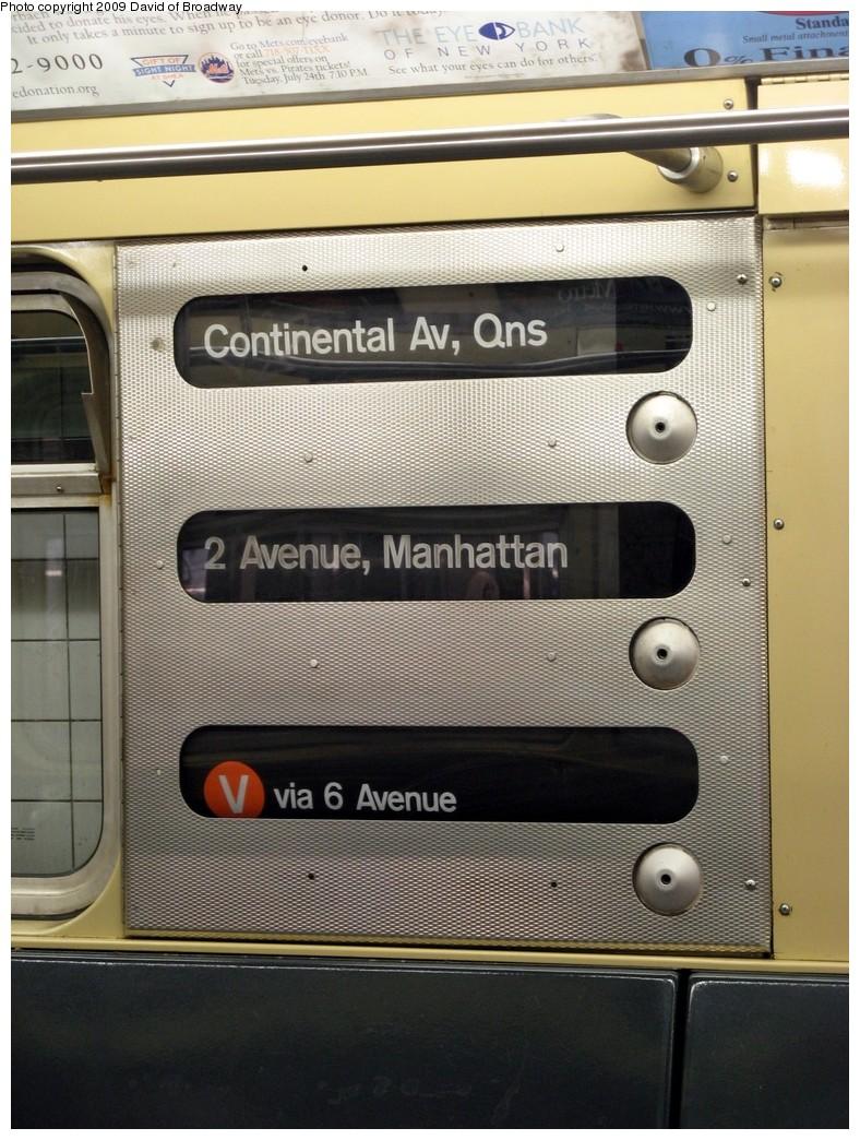 (226k, 788x1044)<br><b>Country:</b> United States<br><b>City:</b> New York<br><b>System:</b> New York City Transit<br><b>Route:</b> V<br><b>Car:</b> R-32 (Budd, 1964)  3445 <br><b>Photo by:</b> David of Broadway<br><b>Date:</b> 7/13/2009<br><b>Viewed (this week/total):</b> 0 / 1213
