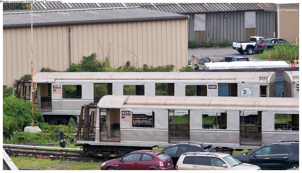 (215k, 1044x599)<br><b>Country:</b> United States<br><b>City:</b> New York<br><b>System:</b> New York City Transit<br><b>Location:</b> 207th Street Yard<br><b>Car:</b> R-40 (St. Louis, 1968)  4251 <br><b>Photo by:</b> David Tropiansky<br><b>Date:</b> 7/17/2009<br><b>Notes:</b> Scrap<br><b>Viewed (this week/total):</b> 0 / 1055