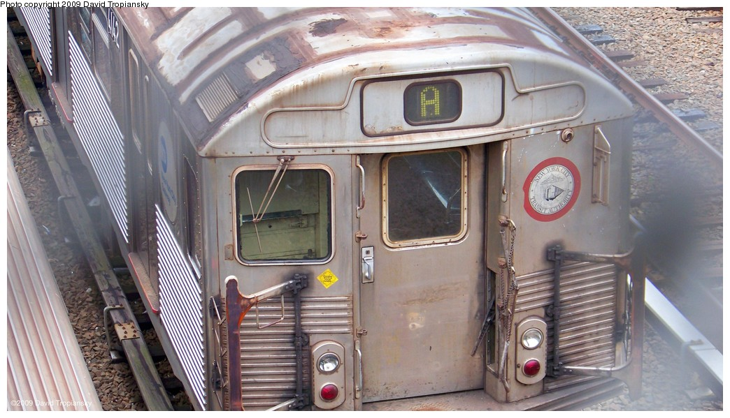 (200k, 1044x599)<br><b>Country:</b> United States<br><b>City:</b> New York<br><b>System:</b> New York City Transit<br><b>Location:</b> Concourse Yard<br><b>Car:</b> R-38 (St. Louis, 1966-1967)  4142 <br><b>Photo by:</b> David Tropiansky<br><b>Date:</b> 7/17/2009<br><b>Viewed (this week/total):</b> 2 / 1435