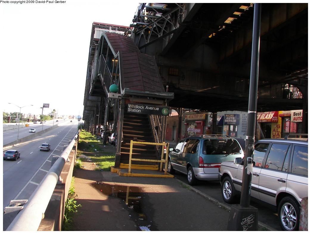 (263k, 1044x788)<br><b>Country:</b> United States<br><b>City:</b> New York<br><b>System:</b> New York City Transit<br><b>Line:</b> IRT Pelham Line<br><b>Location:</b> Whitlock Avenue <br><b>Photo by:</b> David-Paul Gerber<br><b>Date:</b> 7/18/2009<br><b>Notes:</b> Whitlock Ave. station entrance.<br><b>Viewed (this week/total):</b> 1 / 1593