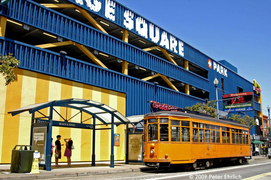 (283k, 930x618)<br><b>Country:</b> United States<br><b>City:</b> San Francisco/Bay Area, CA<br><b>System:</b> SF MUNI<br><b>Location:</b> Jones/Beach<br><b>Car:</b> Milan Milano/Peter Witt (1927-1930) 1895 <br><b>Photo by:</b> Peter Ehrlich<br><b>Date:</b> 6/18/2009<br><b>Viewed (this week/total):</b> 1 / 418