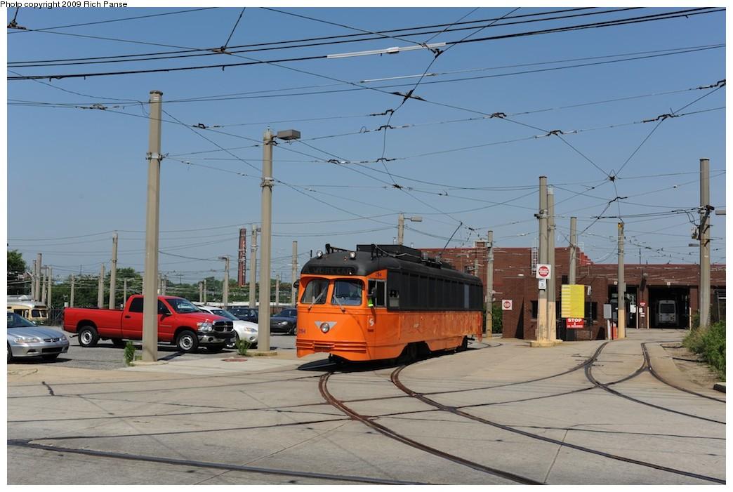 (169k, 1044x701)<br><b>Country:</b> United States<br><b>City:</b> Philadelphia, PA<br><b>System:</b> SEPTA (or Predecessor)<br><b>Location:</b> Elmwood Depot <br><b>Car:</b> PTC/SEPTA Postwar All-electric PCC (St.Louis, 1948)  2194 <br><b>Photo by:</b> Richard Panse<br><b>Date:</b> 6/7/2009<br><b>Viewed (this week/total):</b> 0 / 563