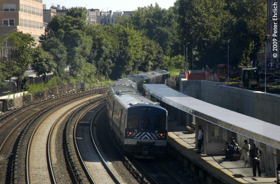 (231k, 930x613)<br><b>Country:</b> United States<br><b>City:</b> New York<br><b>System:</b> Metro-North Railroad (or Amtrak or Predecessor RR)<br><b>Line:</b> Metro North-Harlem Line<br><b>Location:</b> Fordham <br><b>Car:</b> MNRR M-7a EMU (Bombardier) 4234 <br><b>Photo by:</b> Peter Ehrlich<br><b>Date:</b> 8/1/2009<br><b>Notes:</b> Outbound<br><b>Viewed (this week/total):</b> 0 / 823