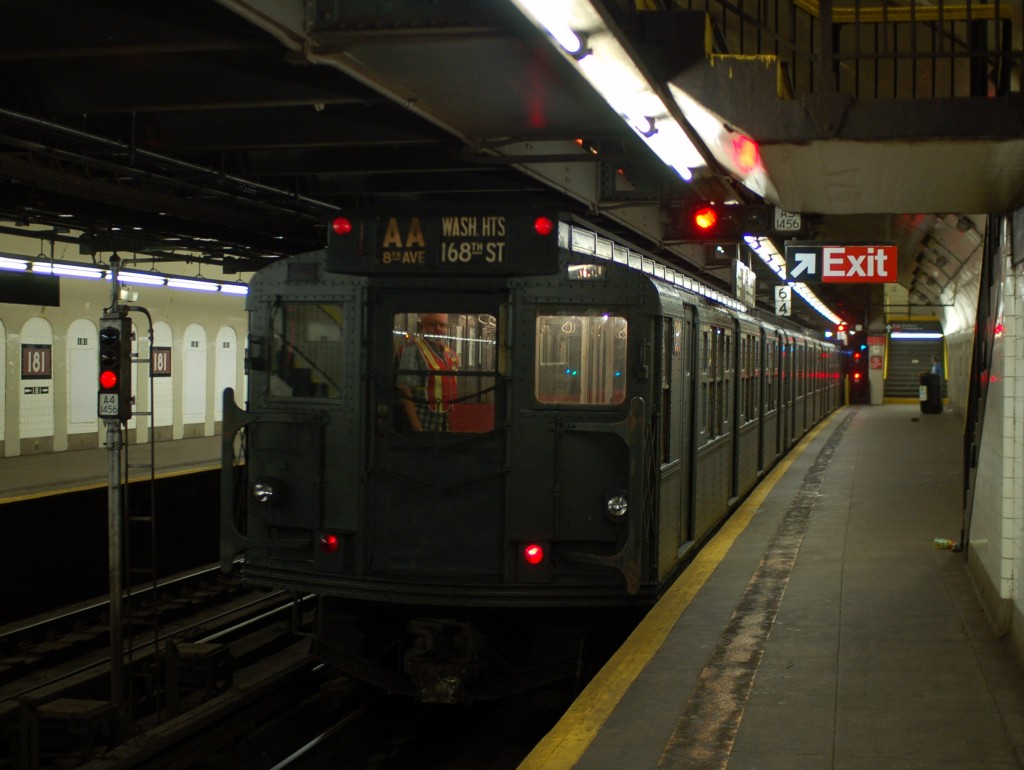 (203k, 1024x770)<br><b>Country:</b> United States<br><b>City:</b> New York<br><b>System:</b> New York City Transit<br><b>Line:</b> IND 8th Avenue Line<br><b>Location:</b> 181st Street <br><b>Route:</b> Fan Trip<br><b>Car:</b> R-6-1 (Pressed Steel, 1936)  1300 <br><b>Photo by:</b> Brian Weinberg<br><b>Date:</b> 8/2/2009<br><b>Viewed (this week/total):</b> 1 / 1929
