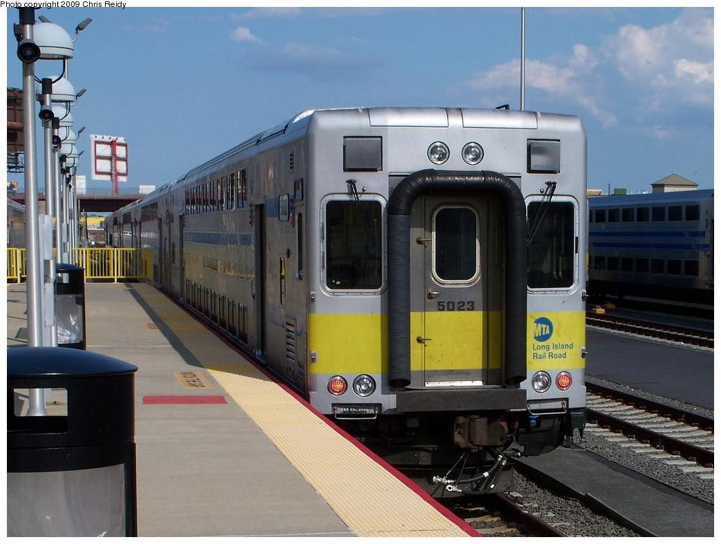 (204k, 1044x788)<br><b>Country:</b> United States<br><b>City:</b> New York<br><b>System:</b> Long Island Rail Road<br><b>Line:</b> LIRR Long Island City<br><b>Location:</b> Long Island City <br><b>Car:</b> LIRR Kawasaki C-3/C-R (Bilevel Coach/Cab) 5011 <br><b>Photo by:</b> Chris Reidy<br><b>Date:</b> 7/13/2009<br><b>Viewed (this week/total):</b> 0 / 1108