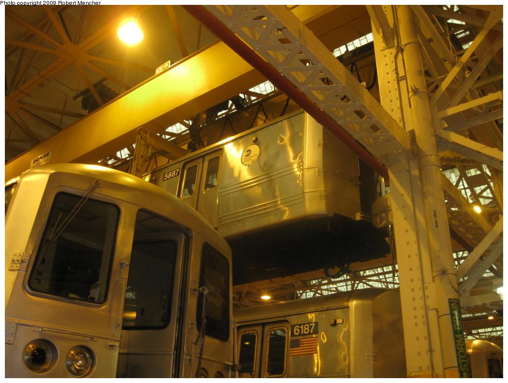 (226k, 1044x788)<br><b>Country:</b> United States<br><b>City:</b> New York<br><b>System:</b> New York City Transit<br><b>Location:</b> Coney Island Shop/Overhaul & Repair Shop<br><b>Car:</b> R-46 (Pullman-Standard, 1974-75) 5887 <br><b>Photo by:</b> Robert Mencher<br><b>Date:</b> 8/19/2009<br><b>Viewed (this week/total):</b> 10 / 831