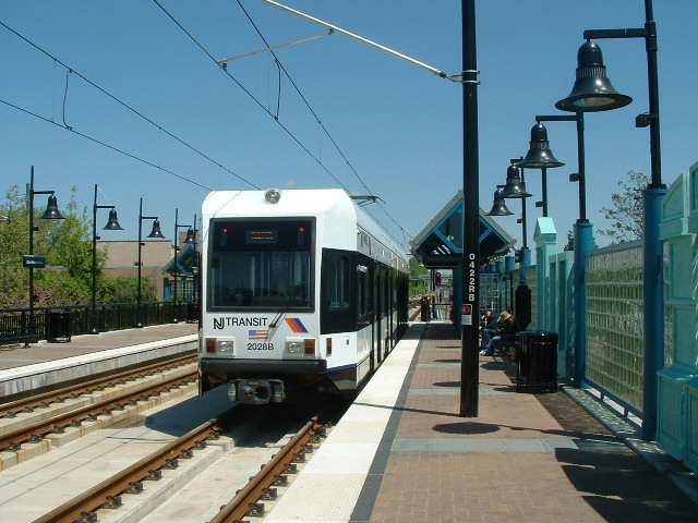 (144k, 640x480)<br><b>Country:</b> United States<br><b>City:</b> Bayonne, NJ<br><b>System:</b> Hudson Bergen Light Rail<br><b>Location:</b> East 22nd Street <br><b>Car:</b> NJT-HBLR LRV (Kinki-Sharyo, 1998-99)  2028 <br><b>Photo by:</b> Brian J. Cudahy<br><b>Date:</b> 5/4/2004<br><b>Viewed (this week/total):</b> 0 / 465