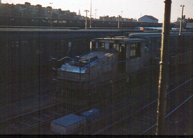 (247k, 756x543)<br><b>Country:</b> United States<br><b>City:</b> New York<br><b>System:</b> New York City Transit<br><b>Location:</b> 36th Street Yard<br><b>Car:</b> SBK Steeplecab  <br><b>Photo by:</b> Brian J. Cudahy<br><b>Date:</b> 1957<br><b>Notes:</b> Circa 1957<br><b>Viewed (this week/total):</b> 1 / 913