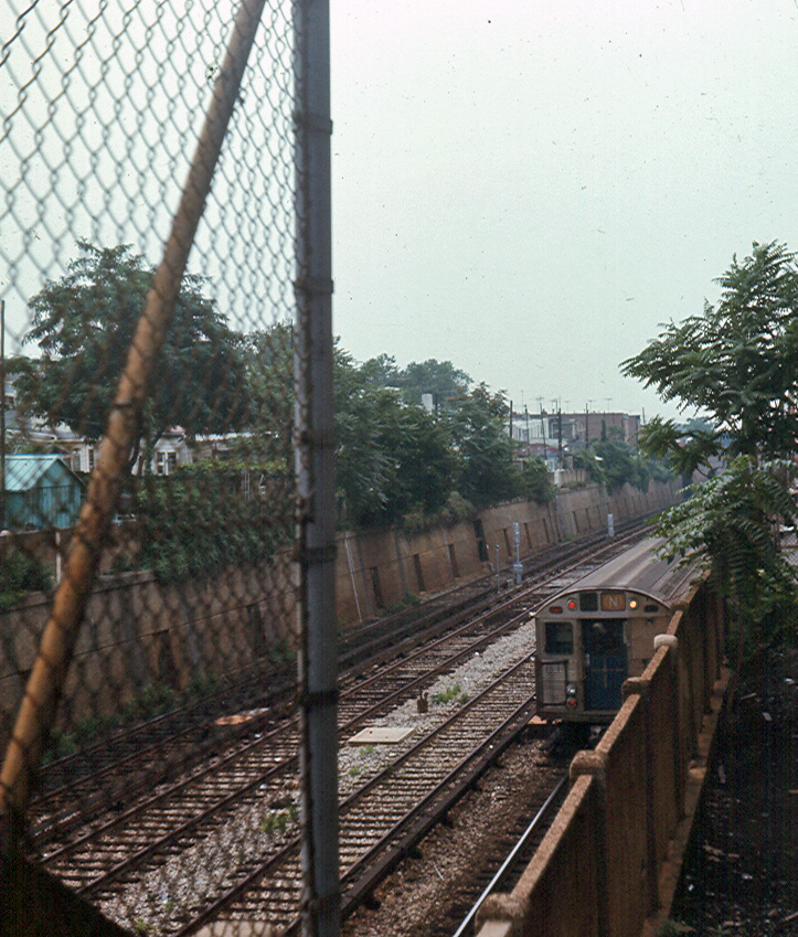 (332k, 723x849)<br><b>Country:</b> United States<br><b>City:</b> New York<br><b>System:</b> New York City Transit<br><b>Line:</b> BMT Sea Beach Line<br><b>Location:</b> Avenue U <br><b>Car:</b> R-32 (Budd, 1964)   <br><b>Photo by:</b> Brian J. Cudahy<br><b>Date:</b> 1969<br><b>Viewed (this week/total):</b> 0 / 1583