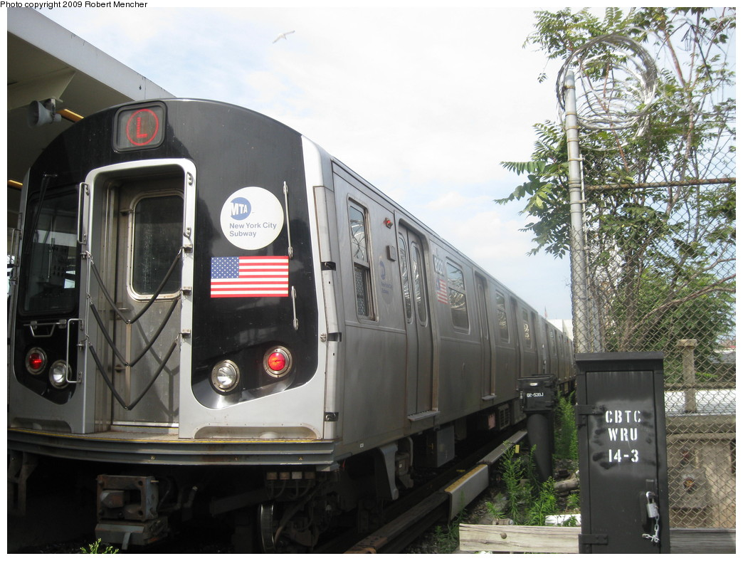 (236k, 1044x788)<br><b>Country:</b> United States<br><b>City:</b> New York<br><b>System:</b> New York City Transit<br><b>Line:</b> BMT Canarsie Line<br><b>Location:</b> Rockaway Parkway <br><b>Route:</b> L<br><b>Car:</b> R-143 (Kawasaki, 2001-2002) 8221 <br><b>Photo by:</b> Robert Mencher<br><b>Date:</b> 9/7/2009<br><b>Viewed (this week/total):</b> 1 / 1183