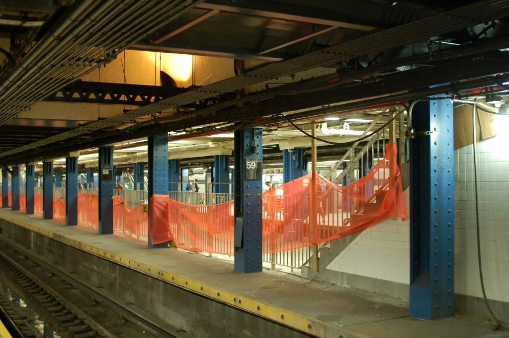 (238k, 1024x680)<br><b>Country:</b> United States<br><b>City:</b> New York<br><b>System:</b> New York City Transit<br><b>Line:</b> IND 8th Avenue Line<br><b>Location:</b> 59th Street/Columbus Circle <br><b>Photo by:</b> Brian Weinberg<br><b>Date:</b> 8/27/2009<br><b>Notes:</b> Platform renovation.<br><b>Viewed (this week/total):</b> 1 / 1805