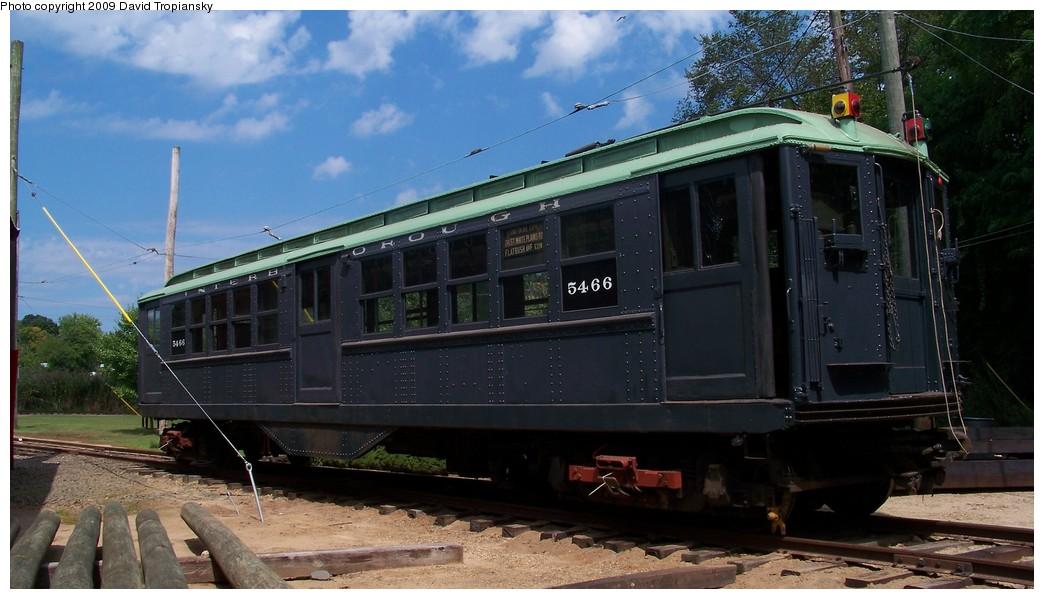 (184k, 1044x599)<br><b>Country:</b> United States<br><b>City:</b> East Haven/Branford, Ct.<br><b>System:</b> Shore Line Trolley Museum <br><b>Car:</b> Low-V 5466 <br><b>Photo by:</b> David Tropiansky<br><b>Date:</b> 9/5/2009<br><b>Viewed (this week/total):</b> 0 / 698