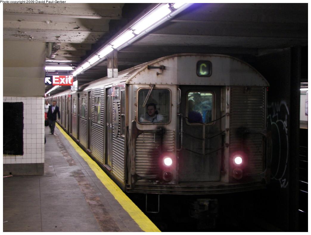 (231k, 1044x788)<br><b>Country:</b> United States<br><b>City:</b> New York<br><b>System:</b> New York City Transit<br><b>Line:</b> IND Fulton Street Line<br><b>Location:</b> Lafayette Avenue <br><b>Route:</b> C<br><b>Car:</b> R-32 (Budd, 1964)  3436 <br><b>Photo by:</b> David-Paul Gerber<br><b>Date:</b> 9/25/2009<br><b>Viewed (this week/total):</b> 2 / 1555
