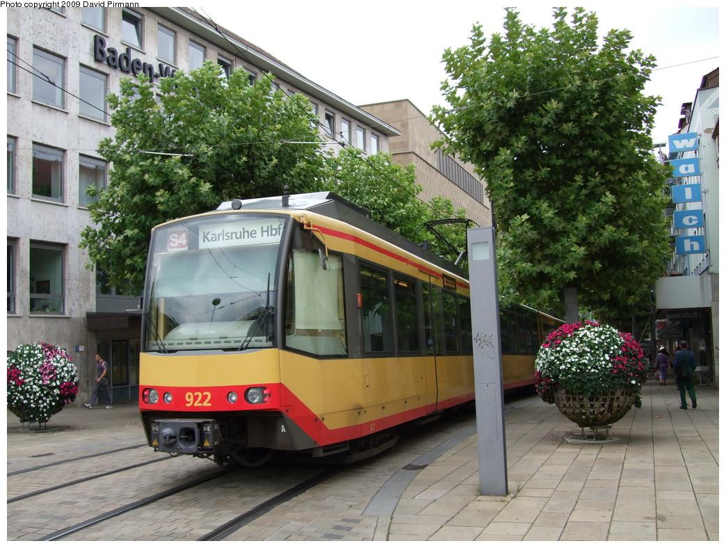 (280k, 1044x788)<br><b>Country:</b> Germany<br><b>City:</b> Heilbronn<br><b>System:</b> AVG (Albtal Verkehrsgesellschaft)<br><b>Location:</b> Heilbronn Harmonie (S4) <br><b>Car:</b> GT8-100D/2S-M  922 <br><b>Photo by:</b> David Pirmann<br><b>Date:</b> 9/11/2009<br><b>Viewed (this week/total):</b> 1 / 252