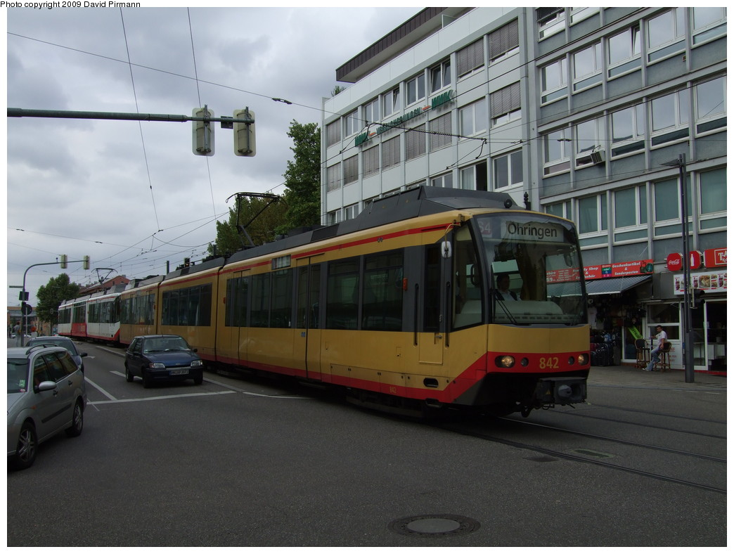(211k, 1044x788)<br><b>Country:</b> Germany<br><b>City:</b> Heilbronn<br><b>System:</b> AVG (Albtal Verkehrsgesellschaft)<br><b>Location:</b> Heilbronn Kaiserstr./Gerberstr. (S4) <br><b>Car:</b> GT8-100D/2S-M  842 <br><b>Photo by:</b> David Pirmann<br><b>Date:</b> 9/11/2009<br><b>Viewed (this week/total):</b> 1 / 220