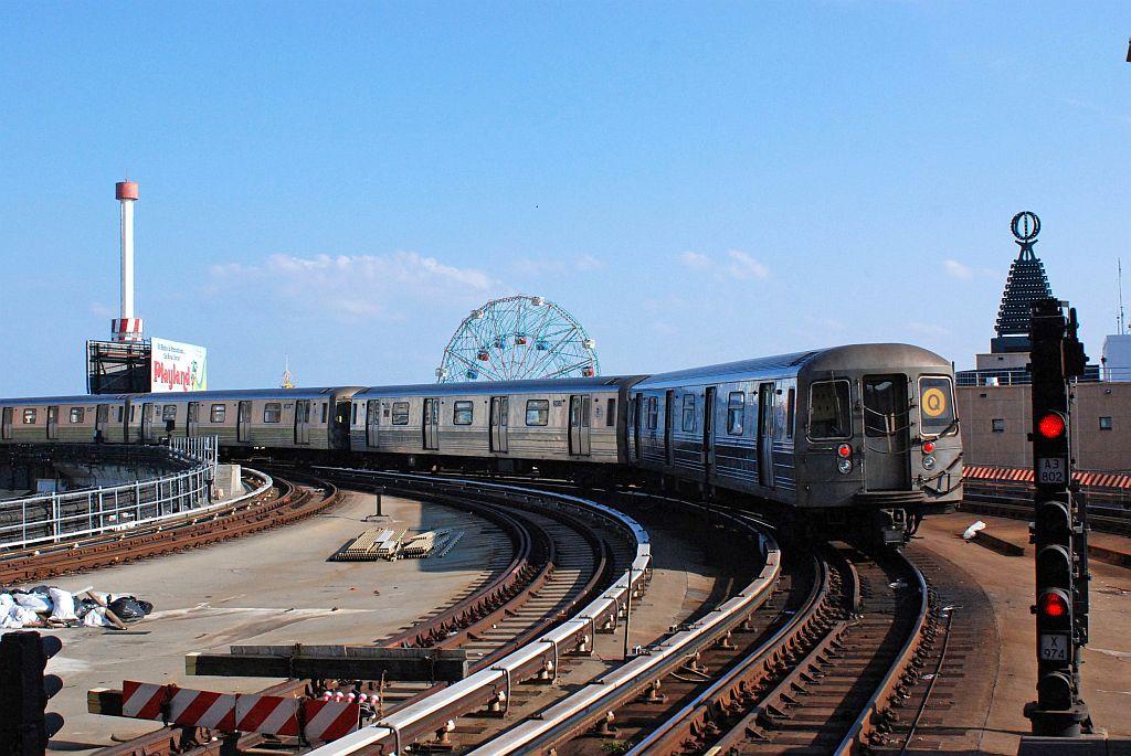 (133k, 1024x685)<br><b>Country:</b> United States<br><b>City:</b> New York<br><b>System:</b> New York City Transit<br><b>Location:</b> Coney Island/Stillwell Avenue<br><b>Route:</b> Q<br><b>Car:</b> R-68/R-68A Series (Number Unknown)  <br><b>Photo by:</b> Richard Chase<br><b>Date:</b> 8/30/2009<br><b>Viewed (this week/total):</b> 2 / 1305