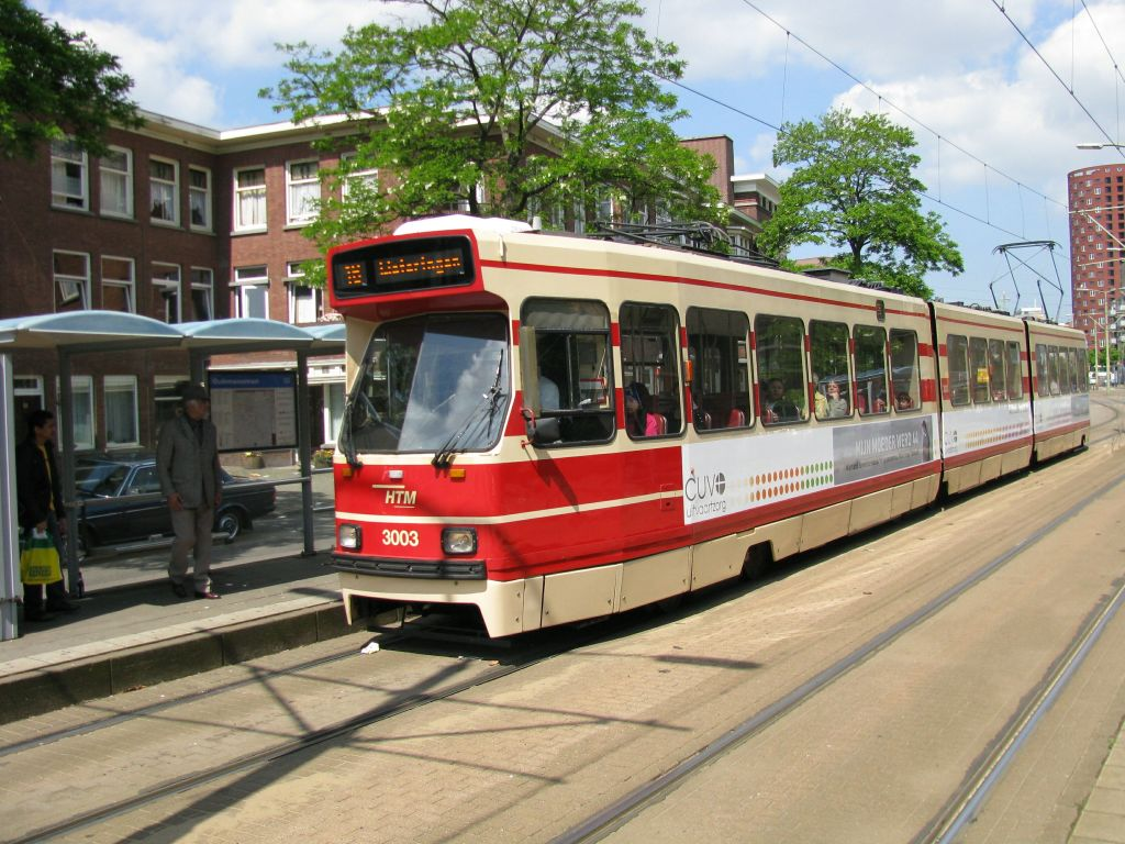 (157k, 1024x768)<br><b>Country:</b> The Netherlands<br><b>City:</b> The Hague<br><b>System:</b> HTM (Haagsche Tramweg Maatschappij) <br><b>Location:</b> Oudemansstraat <br><b>Route:</b> 16<br><b>Car:</b> HTM GLT-8-1  3003  <br><b>Photo by:</b> Jos Straathof<br><b>Date:</b> 5/23/2009<br><b>Viewed (this week/total):</b> 0 / 336