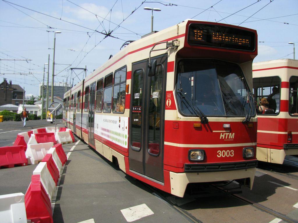 (120k, 1024x768)<br><b>Country:</b> The Netherlands<br><b>City:</b> The Hague<br><b>System:</b> HTM (Haagsche Tramweg Maatschappij)<br><b>Location:</b> Rijswijkseplein<br><b>Route:</b> 16<br><b>Car:</b> HTM GLT-8-1 3003  <br><b>Photo by:</b> Jos Straathof<br><b>Date:</b> 5/23/2009<br><b>Viewed (this week/total):</b> 0 / 300
