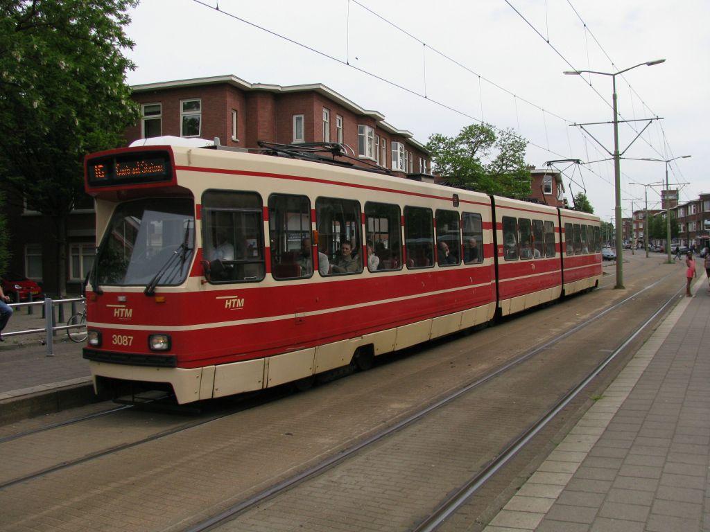 (117k, 1024x768)<br><b>Country:</b> The Netherlands<br><b>City:</b> The Hague<br><b>System:</b> HTM (Haagsche Tramweg Maatschappij) <br><b>Location:</b> Oudemansstraat <br><b>Route:</b> 16<br><b>Car:</b> HTM GLT-8-1  3087  <br><b>Photo by:</b> Jos Straathof<br><b>Date:</b> 5/23/2009<br><b>Viewed (this week/total):</b> 0 / 292